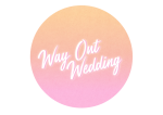 Way Out Wedding badge